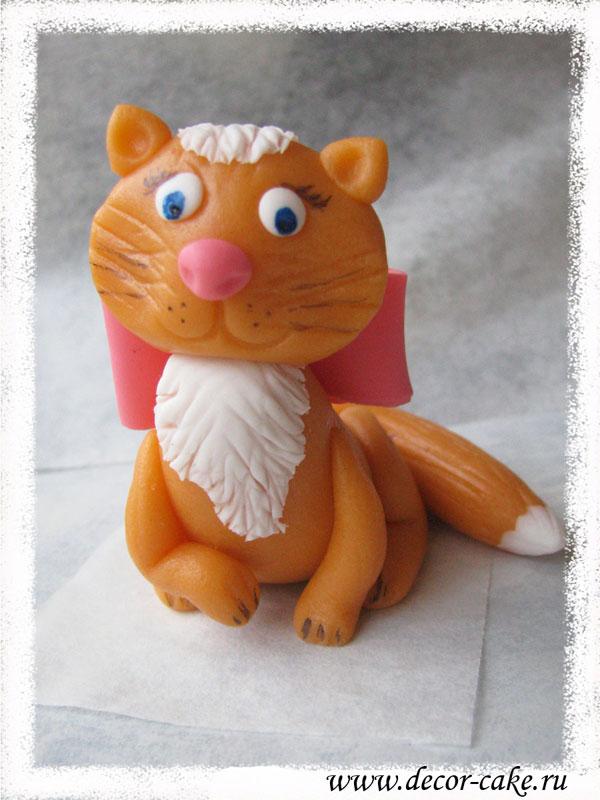 Мастер класс из мастики кошки