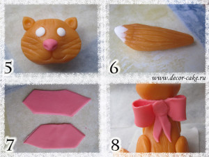 Кошка из мастики