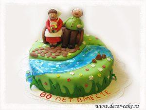 Торт бабушка с дедушкой