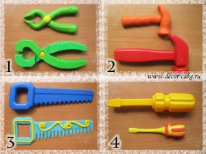 Лепка инструментов из мастики
