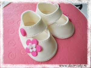 Детские сандалики из мастики