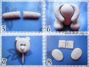Мишка Тедди из мастики
