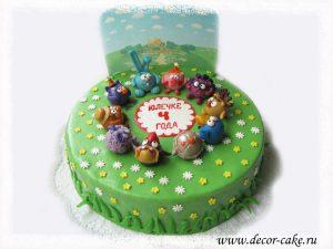 Торт Смешарики из мастики