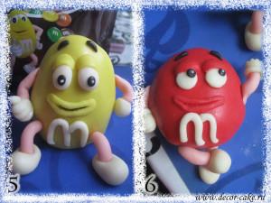Фигурки эмэмдэмс M&M из мастики