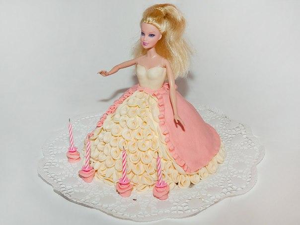 Торт своими руками мастика с куклой