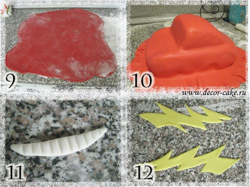 Как сделать мастику для торта молния маквин