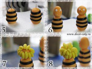 Пчелка Майя из мастики