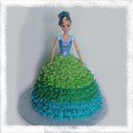 Торт-кукла с пышной юбкой