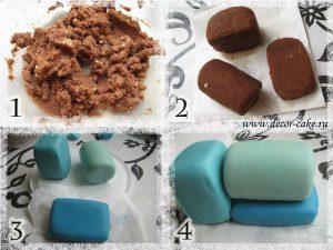Паровозик из мастики и картошки