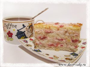 Бисквит с йогуртным кремом