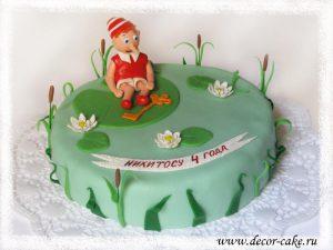 Торт Буратино из мастики