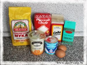 Ингредиенты для торта Кучеряшка