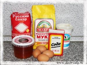 Ингредиенты для торта медовик