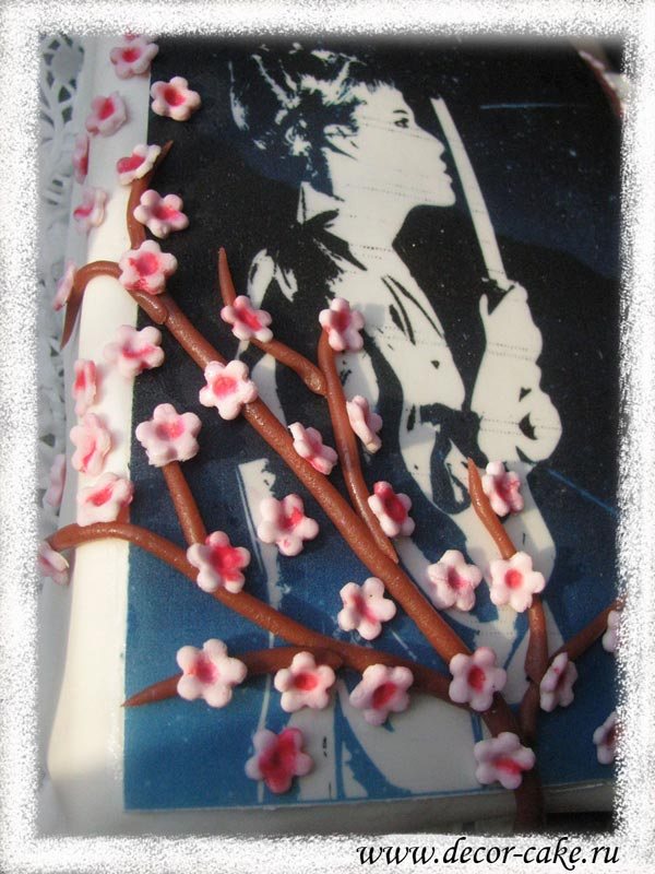 Сакура из мастики
