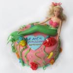 Украшение торта с русалочкой