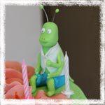 Мастер-класс по лепке кузнечика Филиппа по мотивам мультфильма Пчелка Майя из мастики
